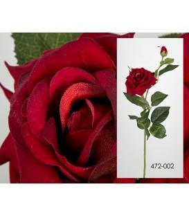 Rosa terciopelo roja 85 cm