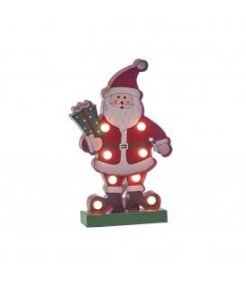 Papá Noel c/leds 13,5x24,5x4 cm