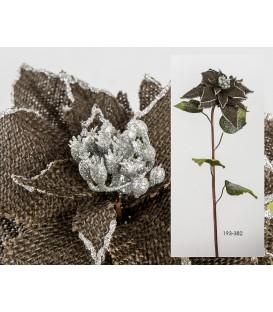 Poinsettia rústica marrón 71 cm