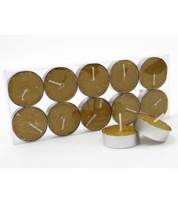 S/10 vela tealight metalizada