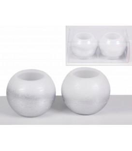 S/2 velas bola 9 cm electr