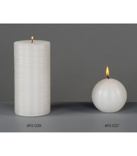 Cirio blanco brillo 7x14 cm