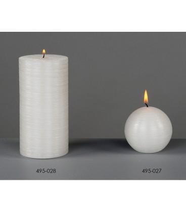 Vela bola blanco brillo 7 cm
