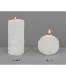 Vela blanca 7x15 cm