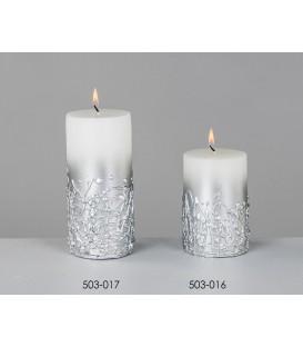 Cirio abstracto plata/crema