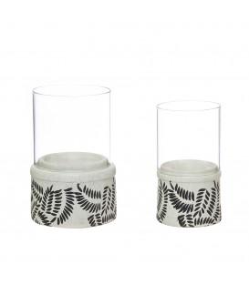 Portavelas cerámica 9x16,5 cm