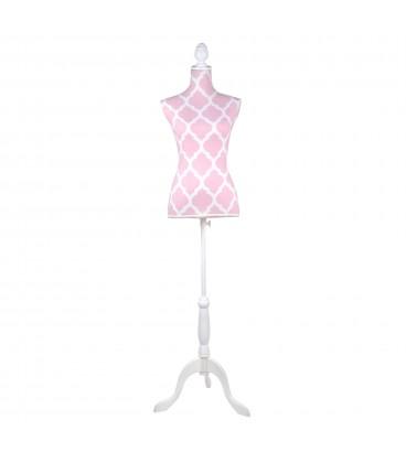 Maniquí rosa 165x40x40 cm