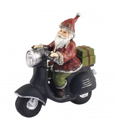 Papá Noel vespa 25x24x10 cm