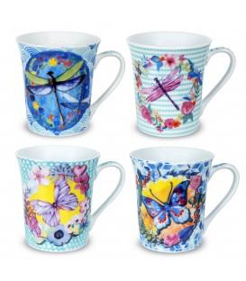 "S/2 mug ""Butterfly"" 10x12x9 cm"