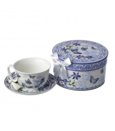 "Taza/plato té ""Bluish"" porcelana"