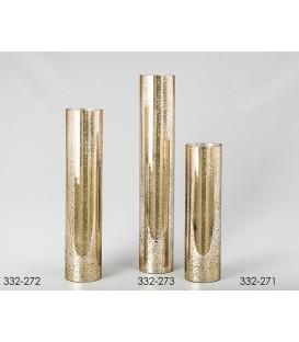 Jarrón cristal Palmira oro