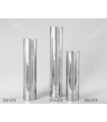 Jarrón cristal Palmira plata