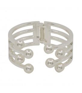 Pulsera rígida c/perlas