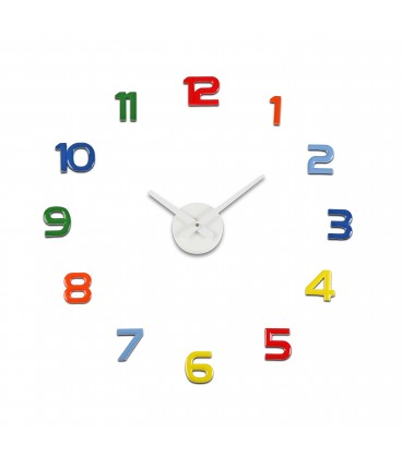 Reloj pegatina colores