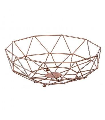 Frutero metal cobrizo 26,5x27x10 cm