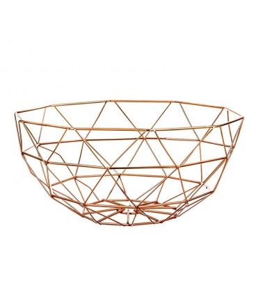 Frutero metal cobrizo 33x33,5x15 cm