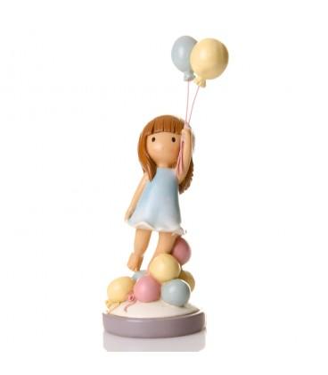 Figura niña c/globos