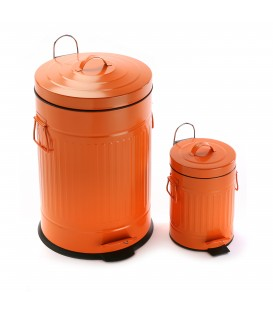 Cubo baño naranja - 2 tamaños