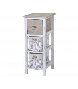 Cajonera blanca madera cajón/cestas