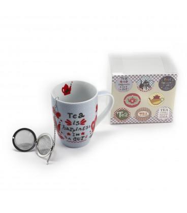 Mug c/filtro té 11x12x8,5 cm