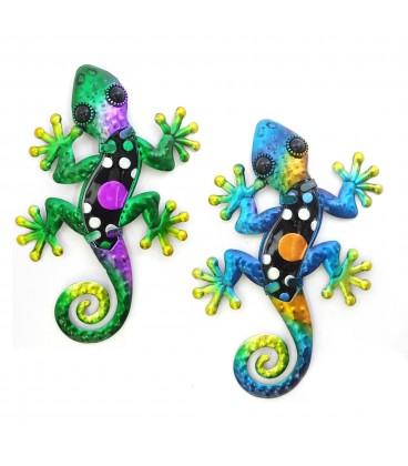 Lagarto metal - 3 tamaños - 2 colores