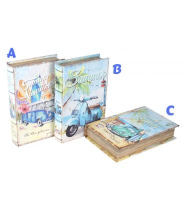 Caja-libro DM/tela 24,5x16x5 cm
