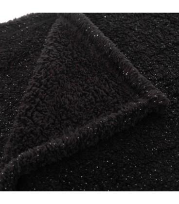 """Manta """"Glitter"""" negro 170x130 cm"""