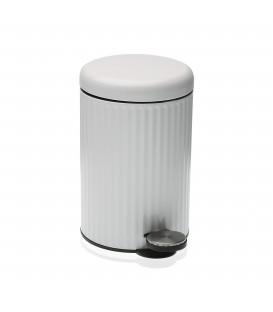 Papelera c/tapa blanca 3L
