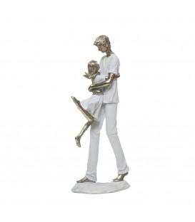 Figura Padre con hija 35x14x4 cm