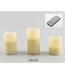 S/3 velas batería c/mando 7x10 cm