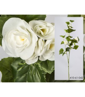 Rama begonia c/flor blanca 94 cm
