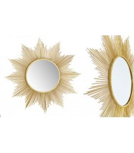 Espejo sol 106x106 cm dorado