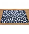 Alfombra 120x170 cm azul marino formas