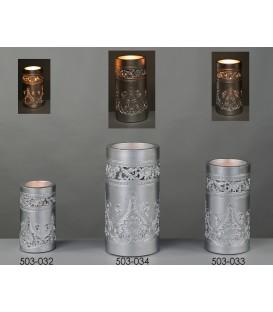 Cirio batería calado plata