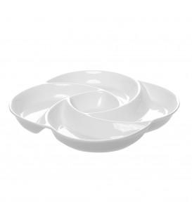 Fuente aperitivos 26x26x5 cm porcelana