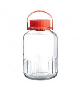 Frasco vidrio c/tapa - 2 tamaños