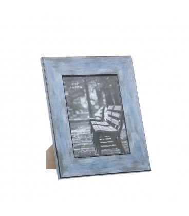 Portafotos Madera azul decapé - 3 tamaños
