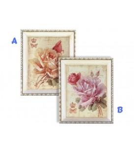 Cuadro Flor 31,5x21,5x6 cm