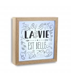 """Cuadro c/luz """"La vie est belle"""""""