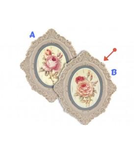 Cuadro Flor ovalado 58x49 cm