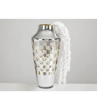 Florero dorado/plata 50x25 cm