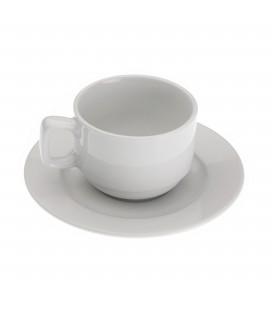S/6 tazas té c/plato New White