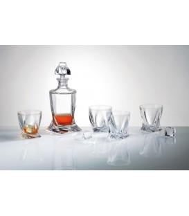 S/Botella BOHEMIA Quadro + 6 vasos whisky
