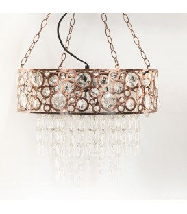 Lámpara techo cobre 30x42x42 cm