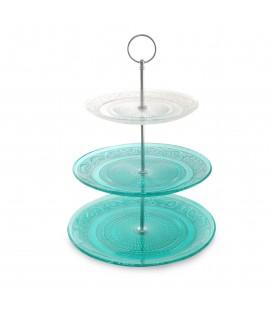 Frutero 3 platos cristal 34x25x25 cm