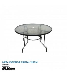 Mesa de cristal redonda 120 cm