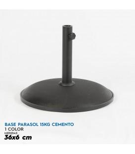Base parasol 15 kg cemento 36x6 cm