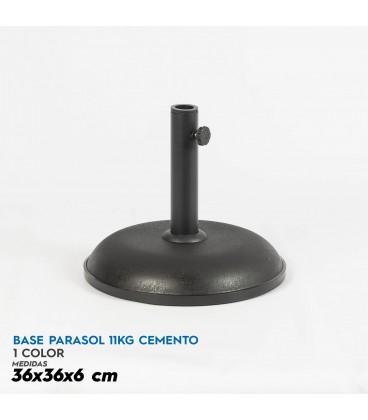 Base parasol 11 kg cemento 36x6 cm