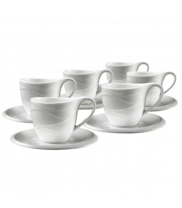 S/6 tazas té c/plato Corina