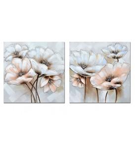 Pareja pinturas pastel 60x60 cm